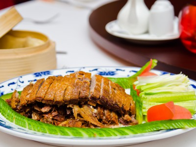 Peking Duck with Hoisin Sauce and Pancakes