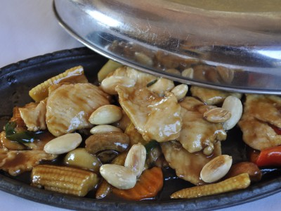 Chicken on Sizzling Pan