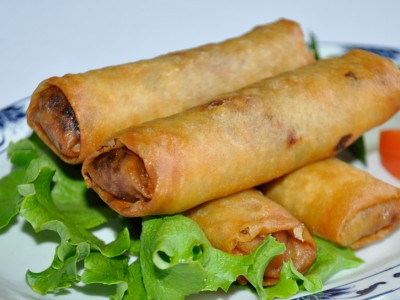 Pancake Rolls with Beef and Vegetables