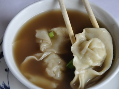 Chicken Wonton with Mushrooms