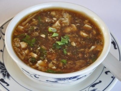 Szechuan Hot and Sour Soup with Chicken